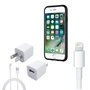 iPhone 8/7 Plus Bundle with Incipio Dual Pro Case -  Apple OEM Wall Charger, Lightning Cable *Larger iPhone*
